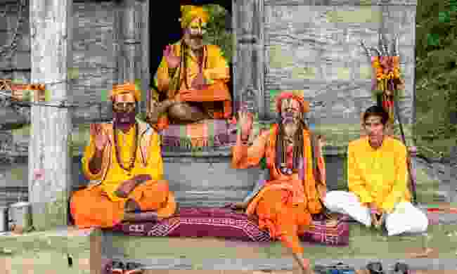 Sadhus at Pashupatinath Temple (Shutterstock)