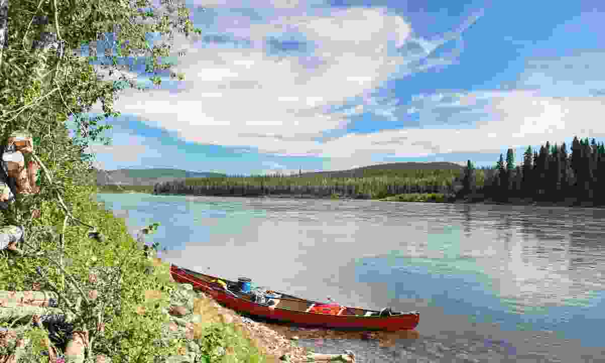 Canoe on the Yukon River, Canada (Dreamstime)
