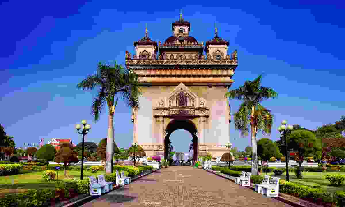 Patuxai is a war monument dedicated to those who fought in the struggle for independence from France (Dreamstime)