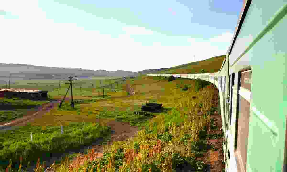 The Trans-Siberian passing through Mongolia (Dreamstime)