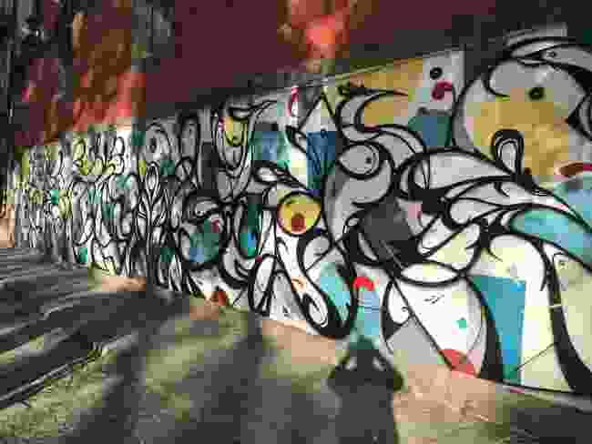 A large Hazul Luzah mural (Simon Chubb)