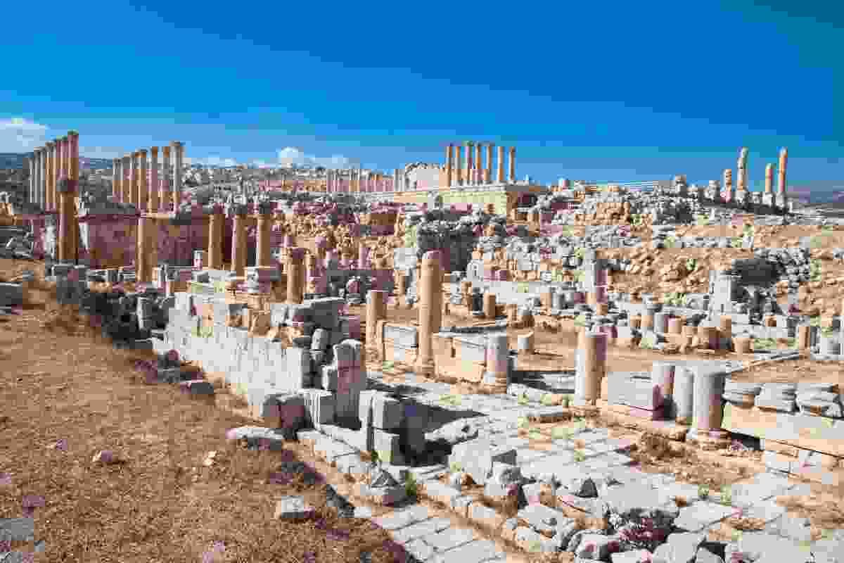 The ancient Roman city of Geraza in modern day Jerash, Jordan (Dreamstime)
