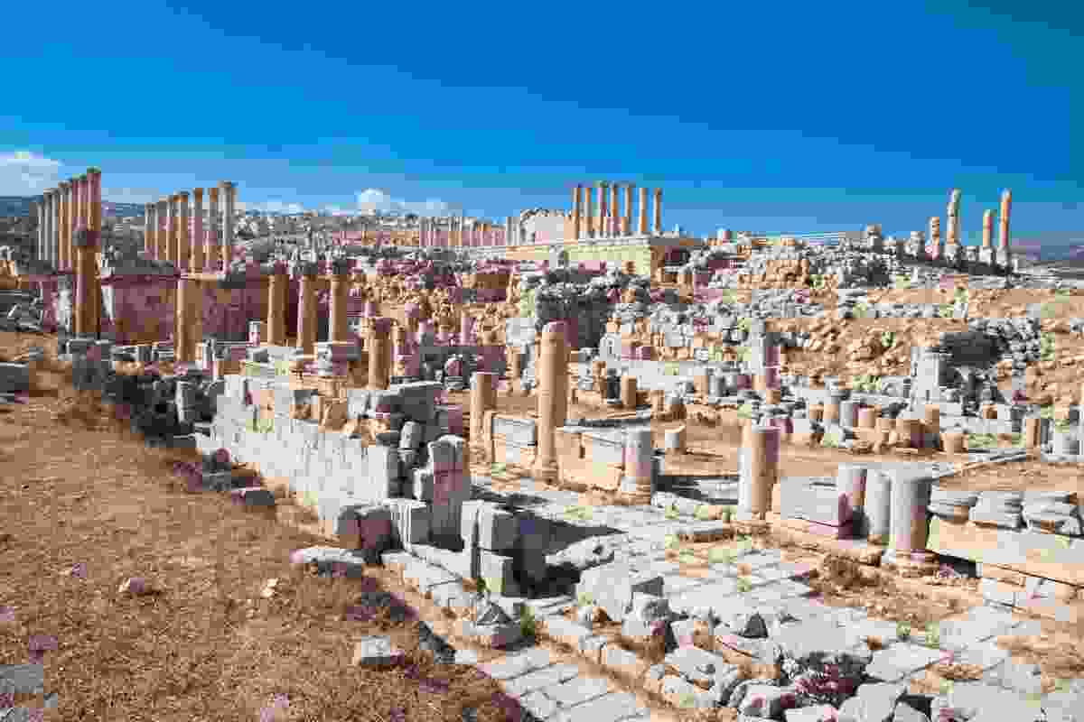 The ancient Roman city of Geraza in modern day Jerash, Jordan (Dreamstime)