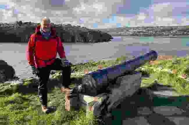 Derek Brockway walking from Newport to Fishguard (Jordan Harris/BBC)
