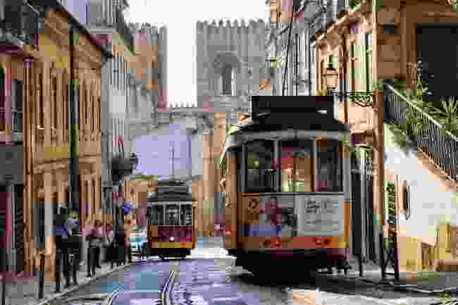 A tramway in Alfama (AWL)