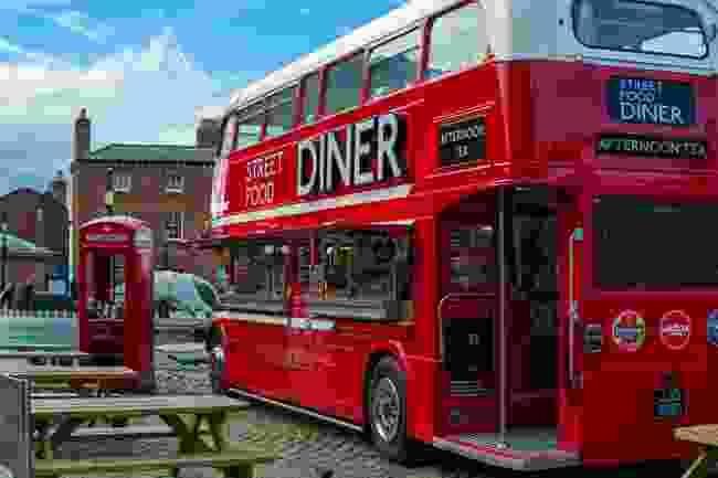 Street Food Diner Bus, Liverpool (Shutterstock)