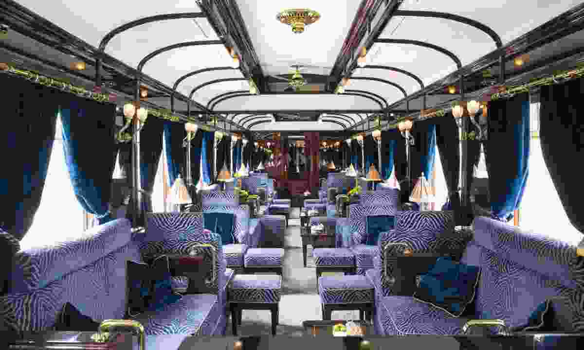 The lounge area on board (Belmond)