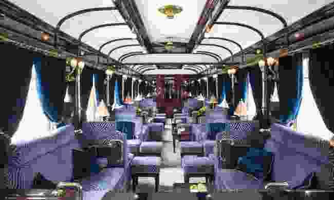 The lounge area on board (Belmond)