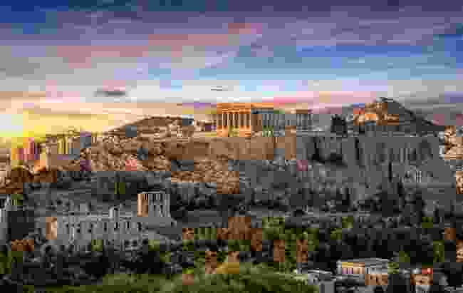 The Acropolis and the Parthenon, Athens, Greece (Shutterstock)