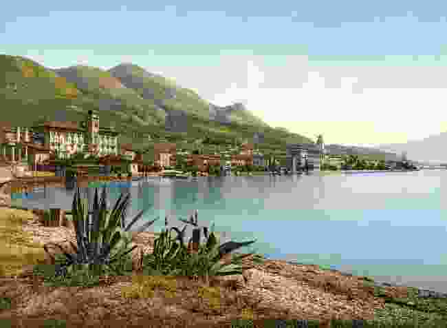 View of Gardone Riviera, c. 1900 (Marc Walter Collection, Paris)