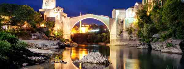 Stari Most at night (Dreamstime)