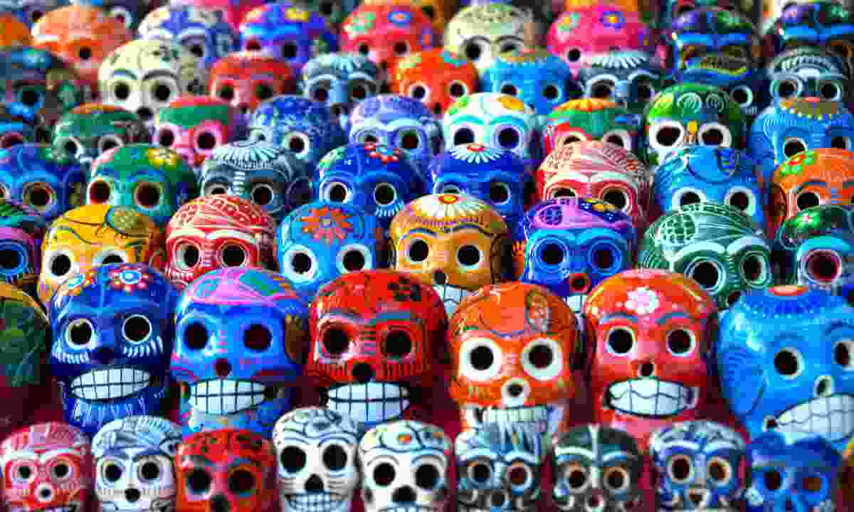 Painted skulls (Dreamstime)