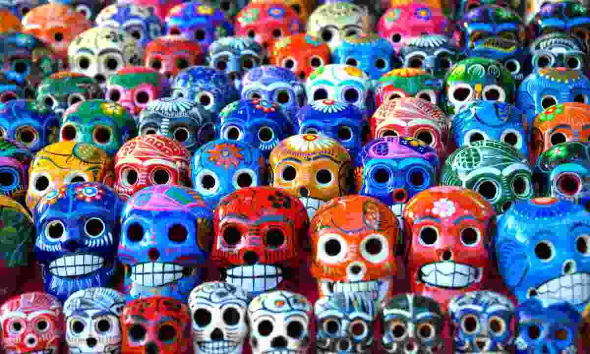 Painted skulls (Dreamstime)
