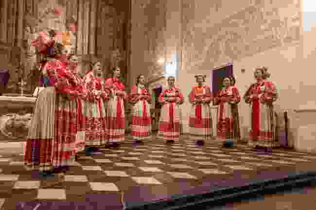 Traditional church singers at the International Folklore Festival (msg.hr)