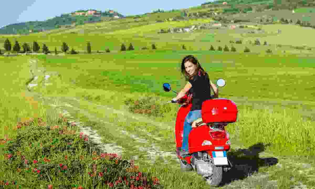 Explore Tuscany by Vespa (Dreamstime)