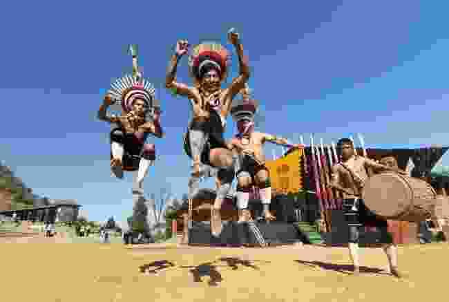 A tribal dance performed for Hornbill Festival in Kohima, Nagaland (Shutterstock)