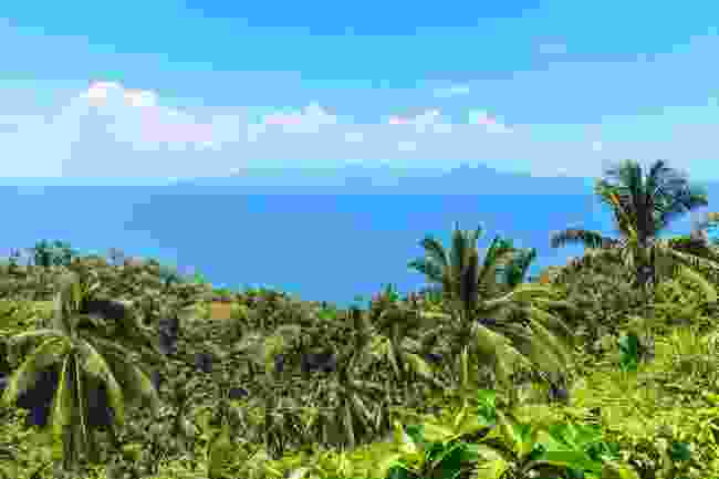 Mindoro Island, another Philippine island, with Mount Halcon far off in the distance (Shutterstock)