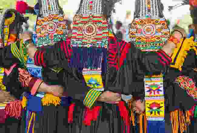 Kalash people during Chilam Joshi Festival (Emma Thomson)