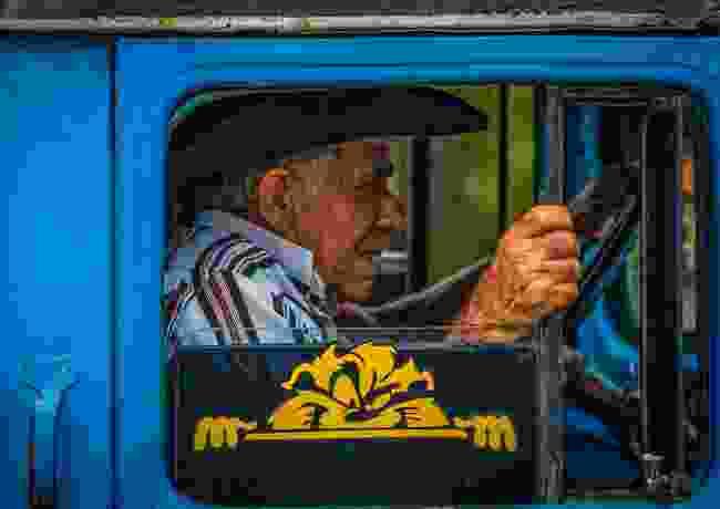 Terrified passenger in Cuba (George Abdilla)