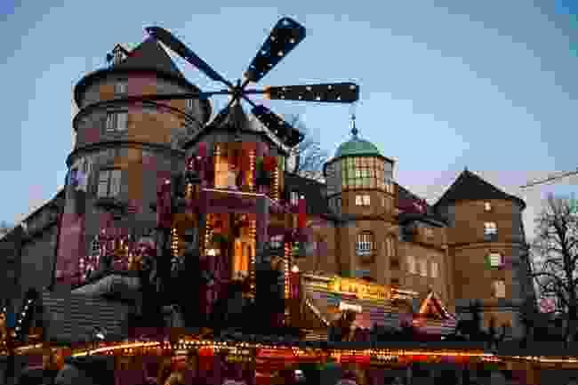 A Christmas stall in Stuttgart, Germany (Shutterstock)
