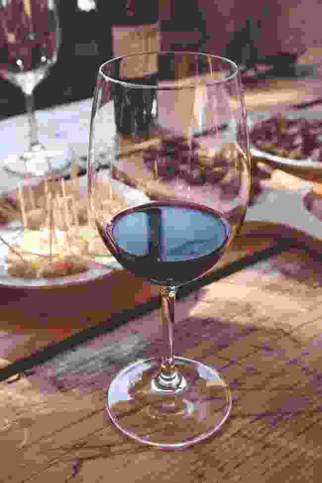 A nice glass of Georgian red (Scott Bennett)