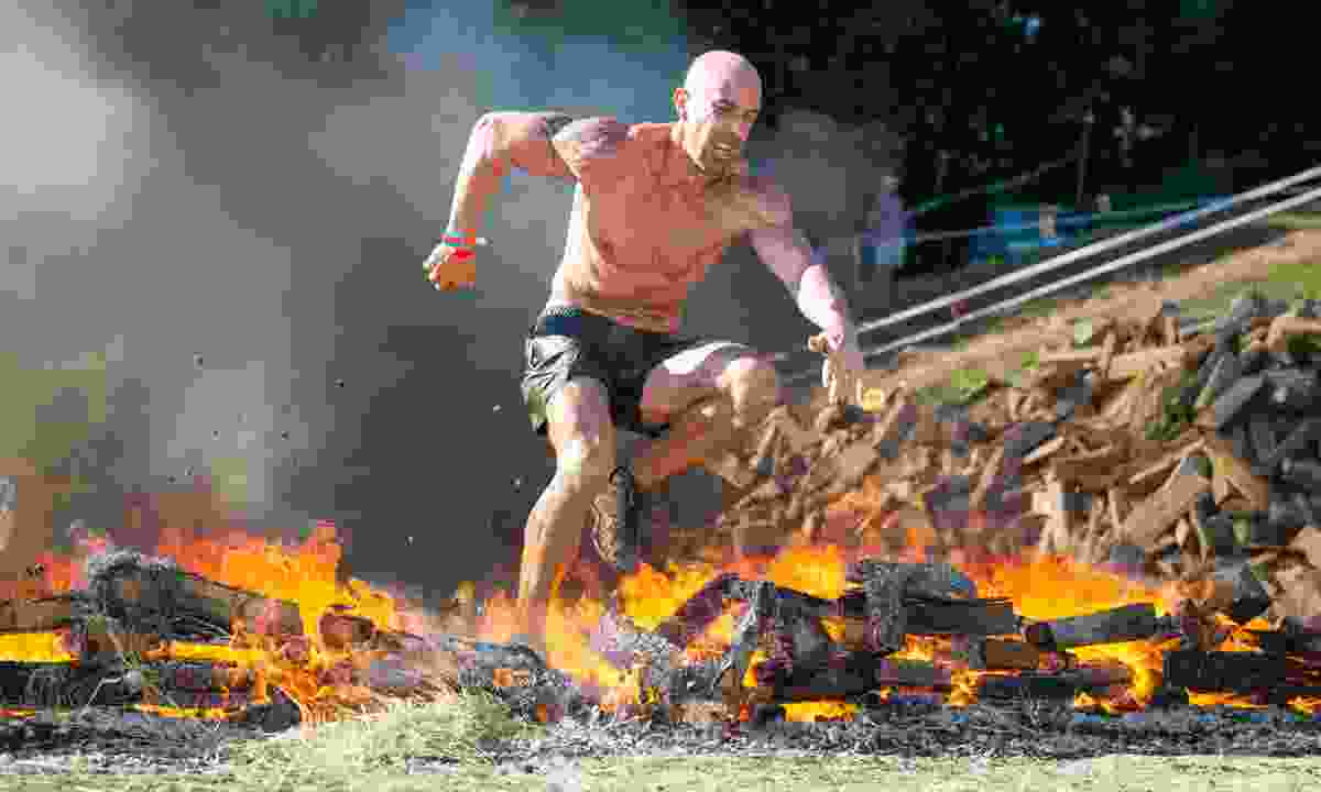 Jumping flames in a Spartan race (spartan.com)