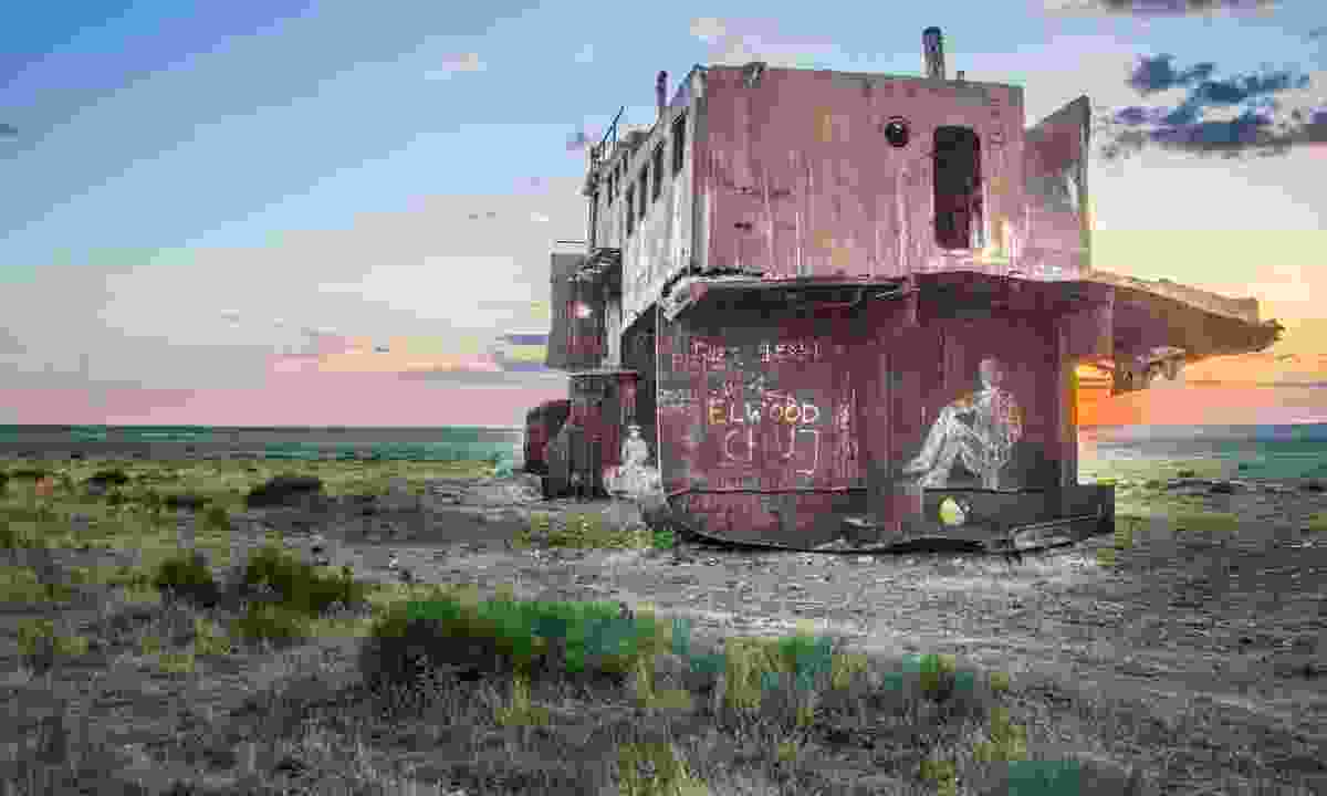 Abandoned ship on the Aral Sea (Dreamstime)