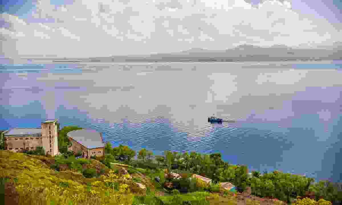 Ferry crossing Lake Sevan (Shutterstock)
