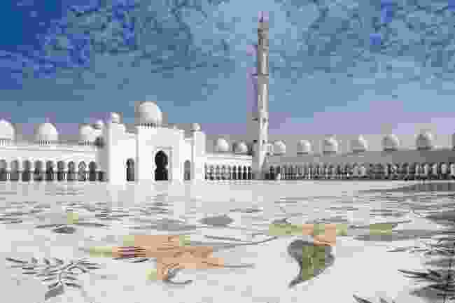 The floral mosaics at Sheikh Zayed Grand Mosque in Abu Dhabi, UAE (Shutterstock)