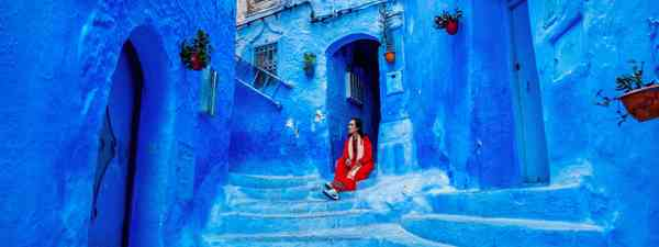 The blue streets of Chefchaouen in Morocco (Shutterstock)