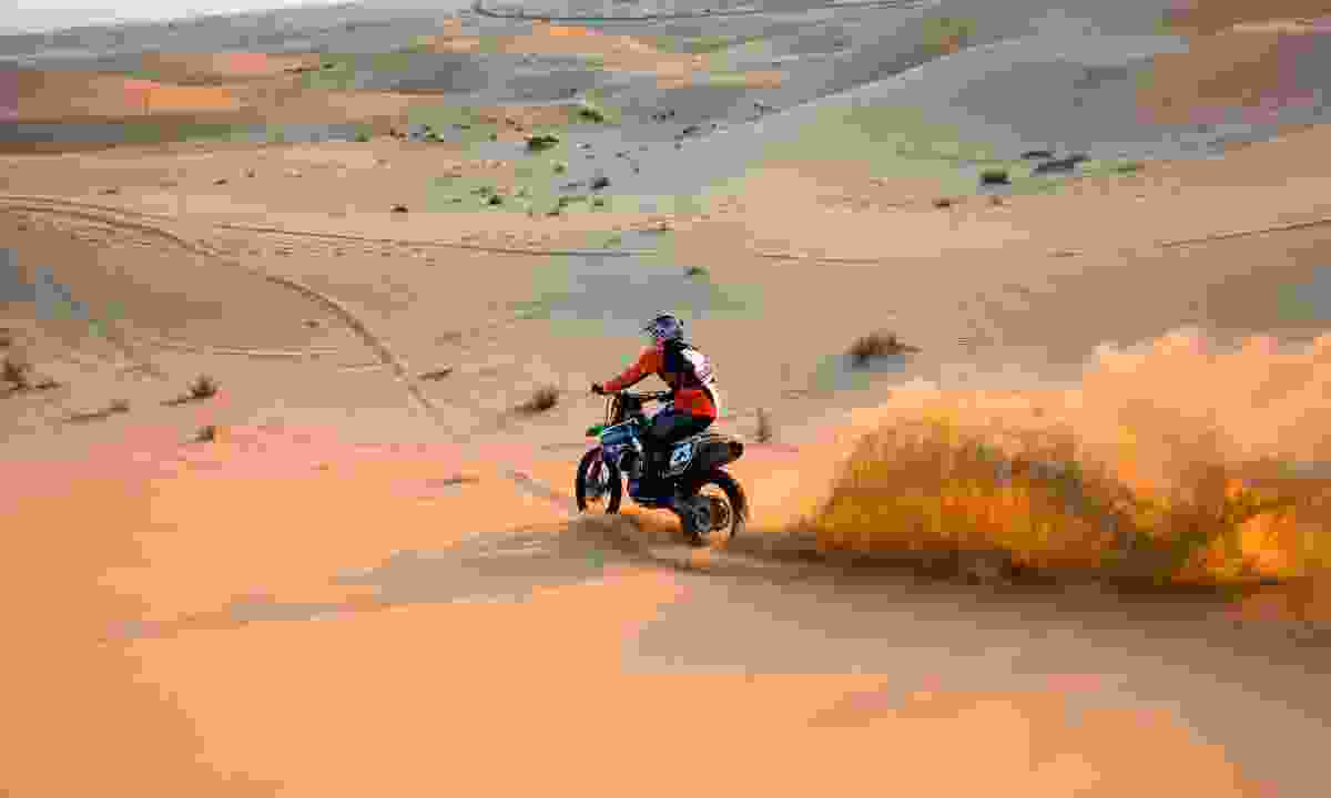 Explore the desert by bike in UAE (Dreamstime)