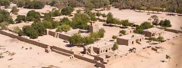 Aerial Photograph of an African Village in Chad(dreamstime.com)