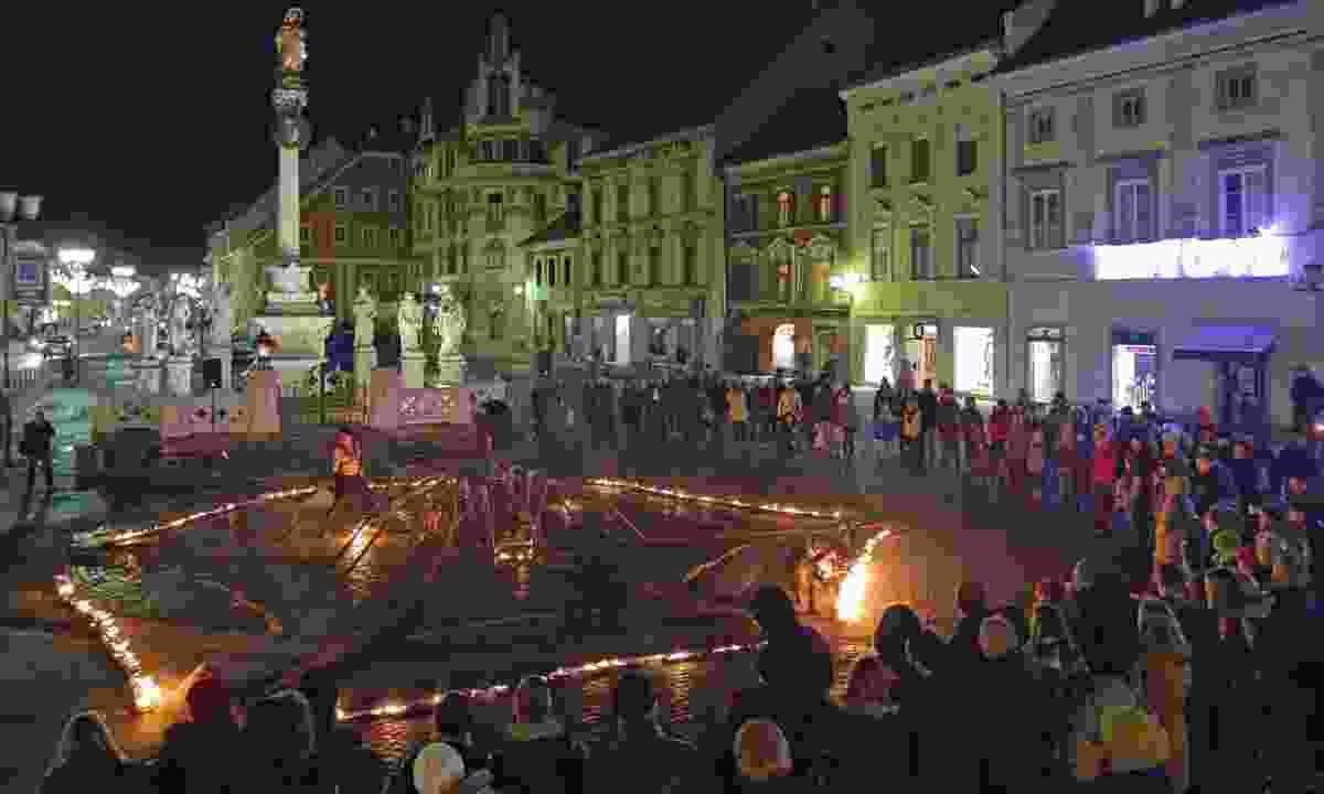 Festive entertainment in Maribor (Slovenian Tourist Board)