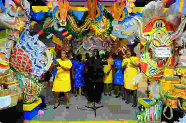 Gospel singers perform during Junkanoo, in Nassau, Bahamas (Shutterstock)
