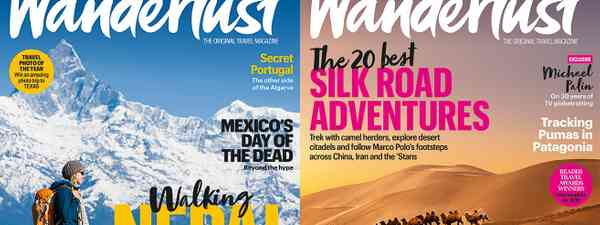 Two of Wanderlust magazine's 2019 covers