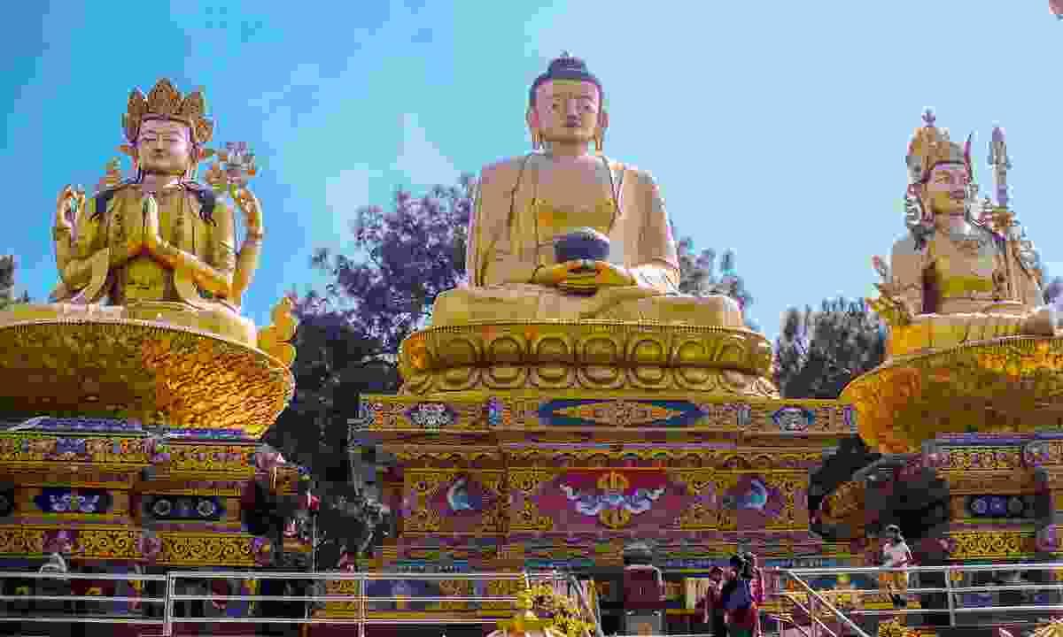 Little nooks of calm (Amideva Buddha Park in Kathmandu (G Adventures)