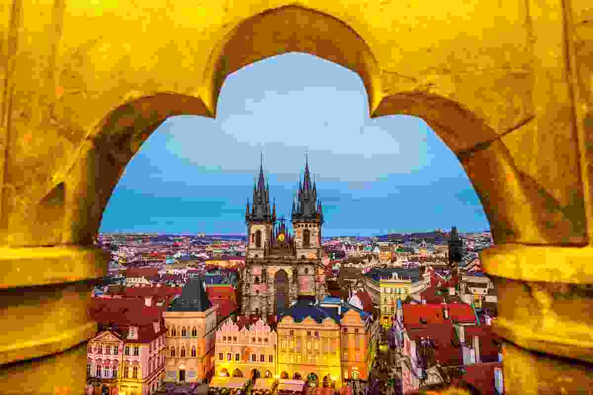 View from a tower window, Prague, Czech Republic (Dreamstime)