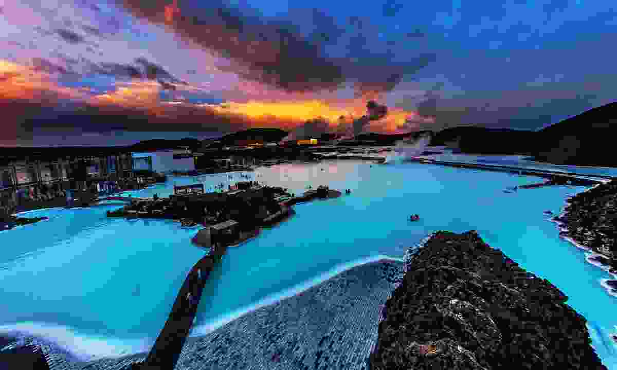 Sunset over the Blue Lagoon, Iceland (Shutterstock)