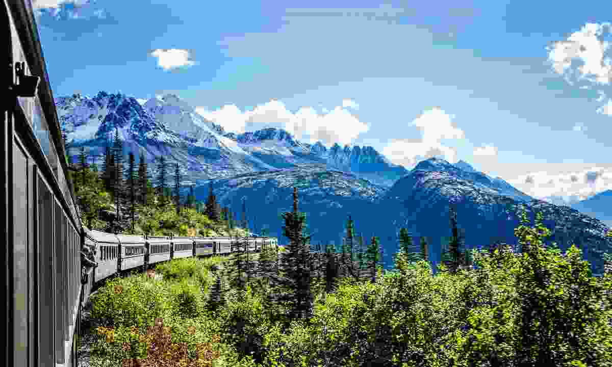 The White Pass and Yukon Railroad, Glacier Bay, Alaska (Dreamstime)