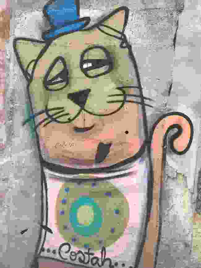 Costah's cartoon style continues with this Top Cat character (Simon Chubb)