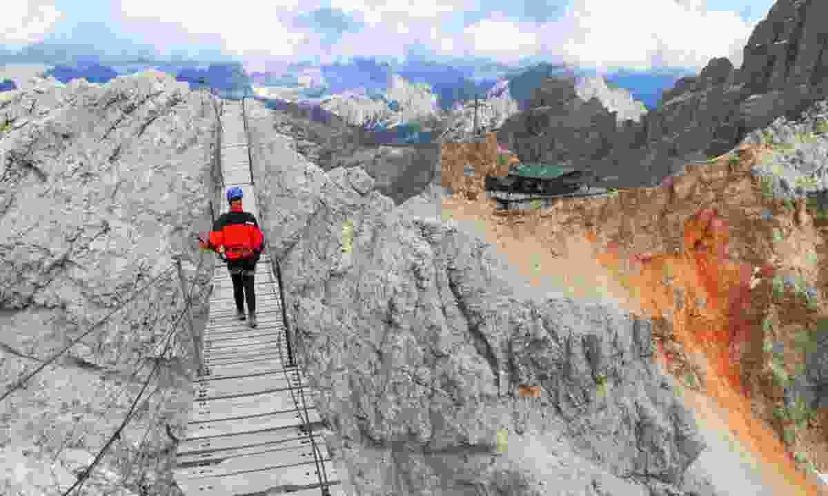 Walking the Via Ferratas (Shutterstock.com)