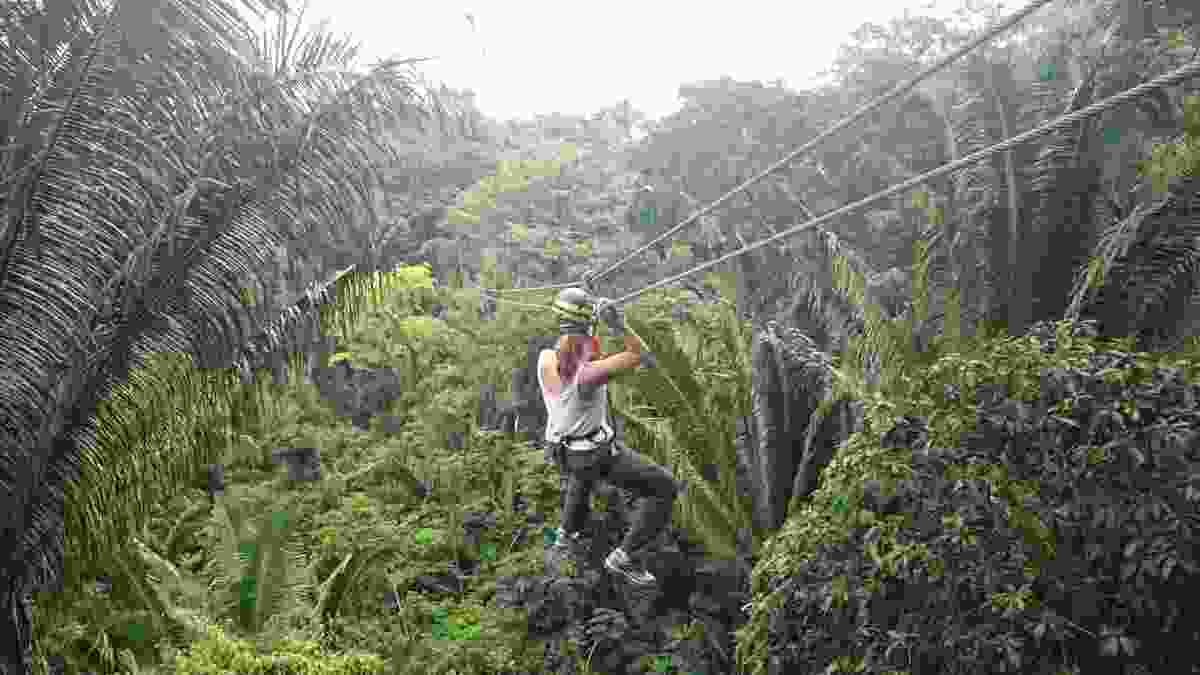 Zip-lining in Mayflower Bocawina National Park. (Belize Tourist Board)