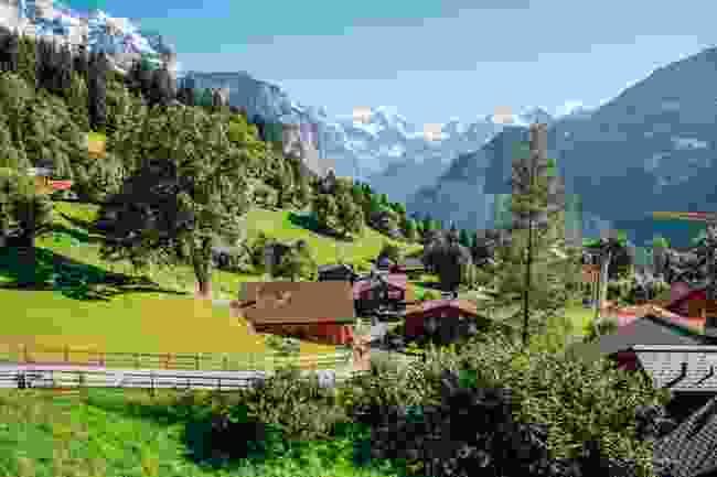 Wengen Village in Switzerland (Shutterstock)