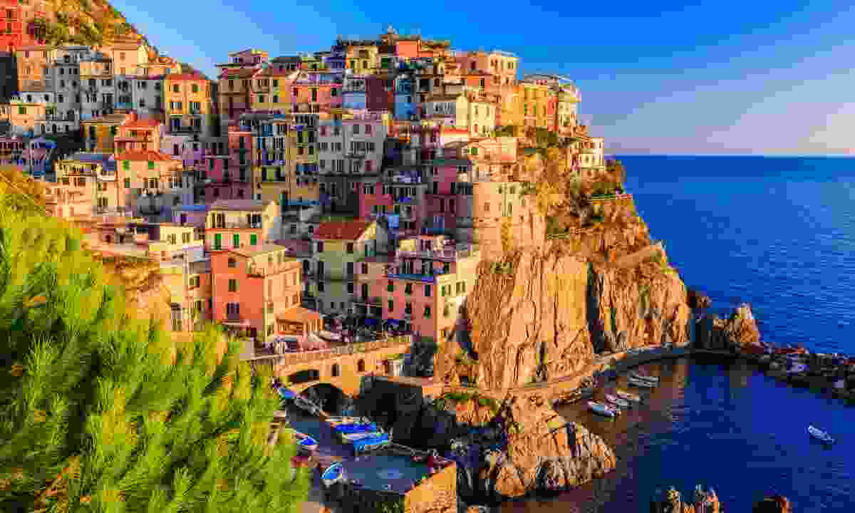 Manarola village at sunset (Dreamstime)