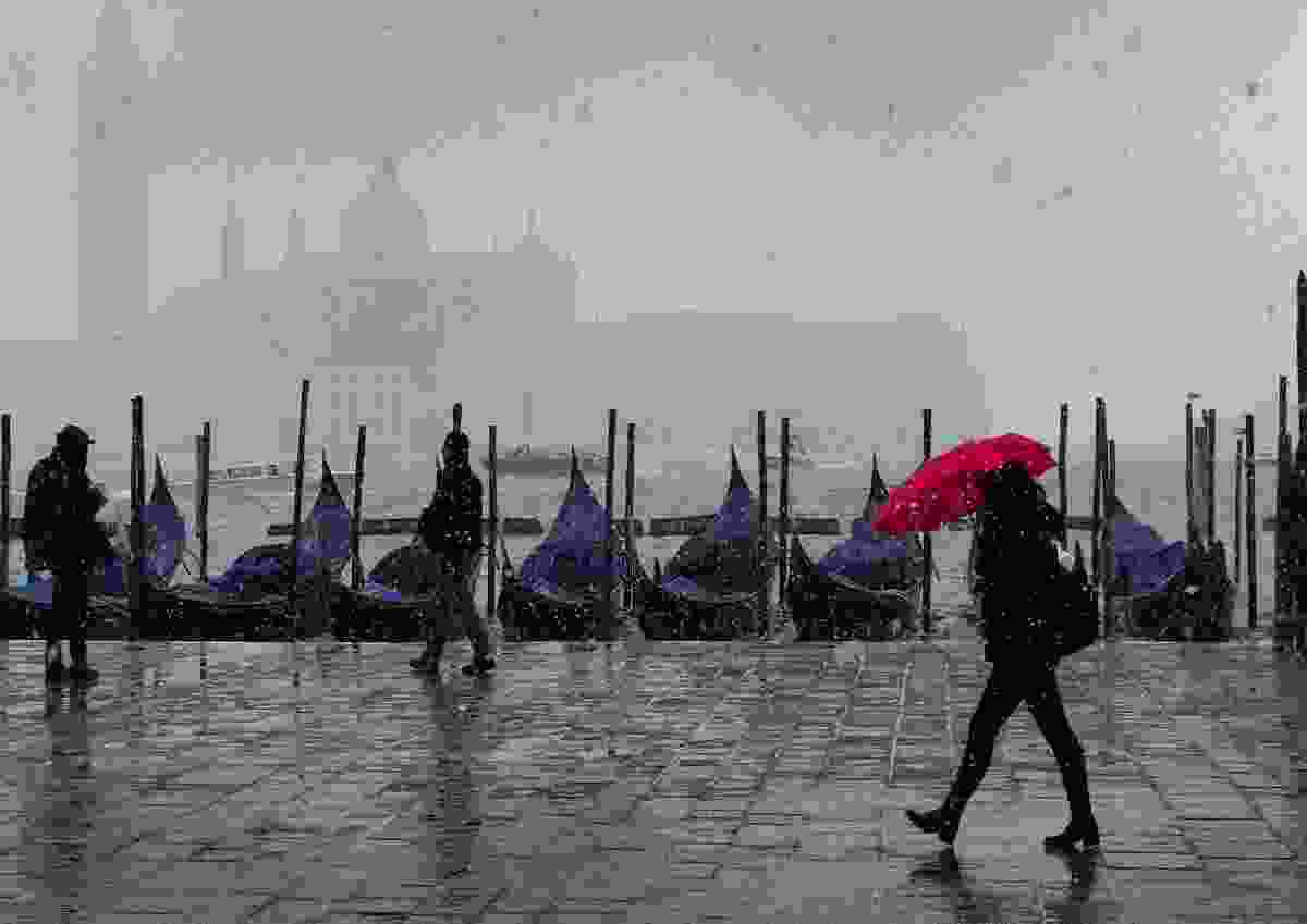 The red umbrella: Venice, Italy (John Holt)