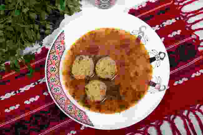 Ciorba, a traditional Romanian meatball soup (Shutterstock)