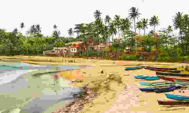 Fishing boats in Agua Ize, Sao Tome (Paul Bloomfield)