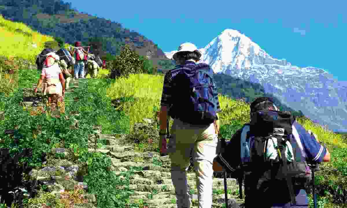 Hiking in Nepal (KE Adventure Travel)