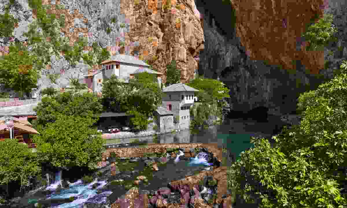 The dervish house at Blagaj Tekke (Dreamstime)