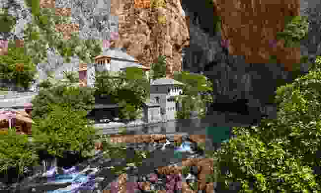 The dervish house at Blagaj Tekija (Dreamstime)